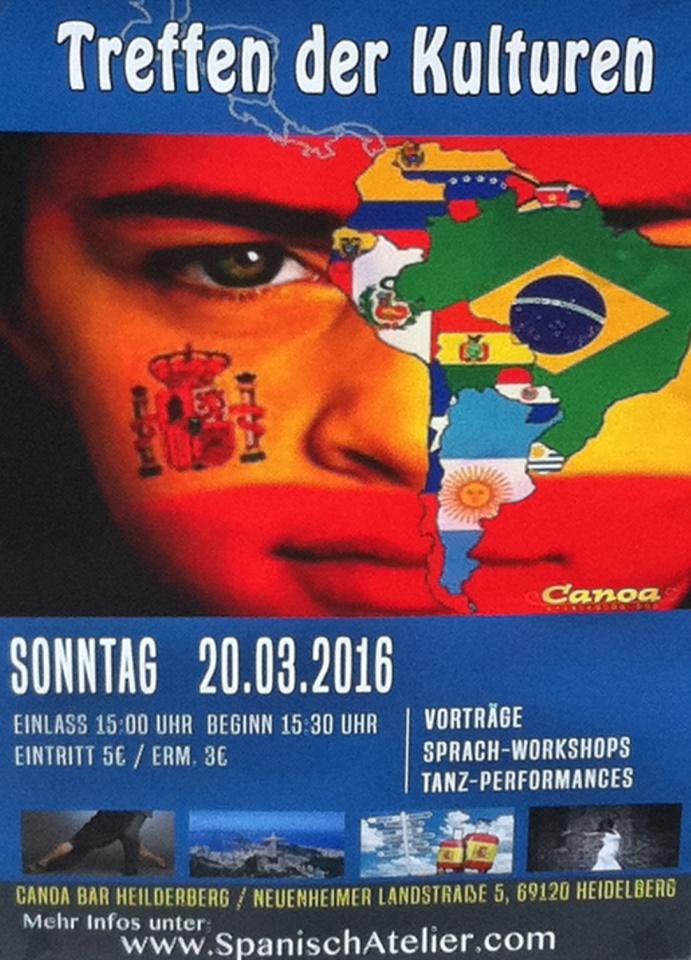 """Flamenco Auftritt bei """"Treffen der Kulturen"""", Canoa Bar in Heidelberg am 20.03.2016"""