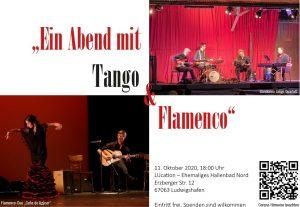 """""""Ein Abend mit Tango & Flamenco"""" zusammen mit dem Bandoneo Tango Quartett in der LUcation – Ehemaliges Hallenbad Nord in Ludwigshafen am 11. Oktober 2020"""