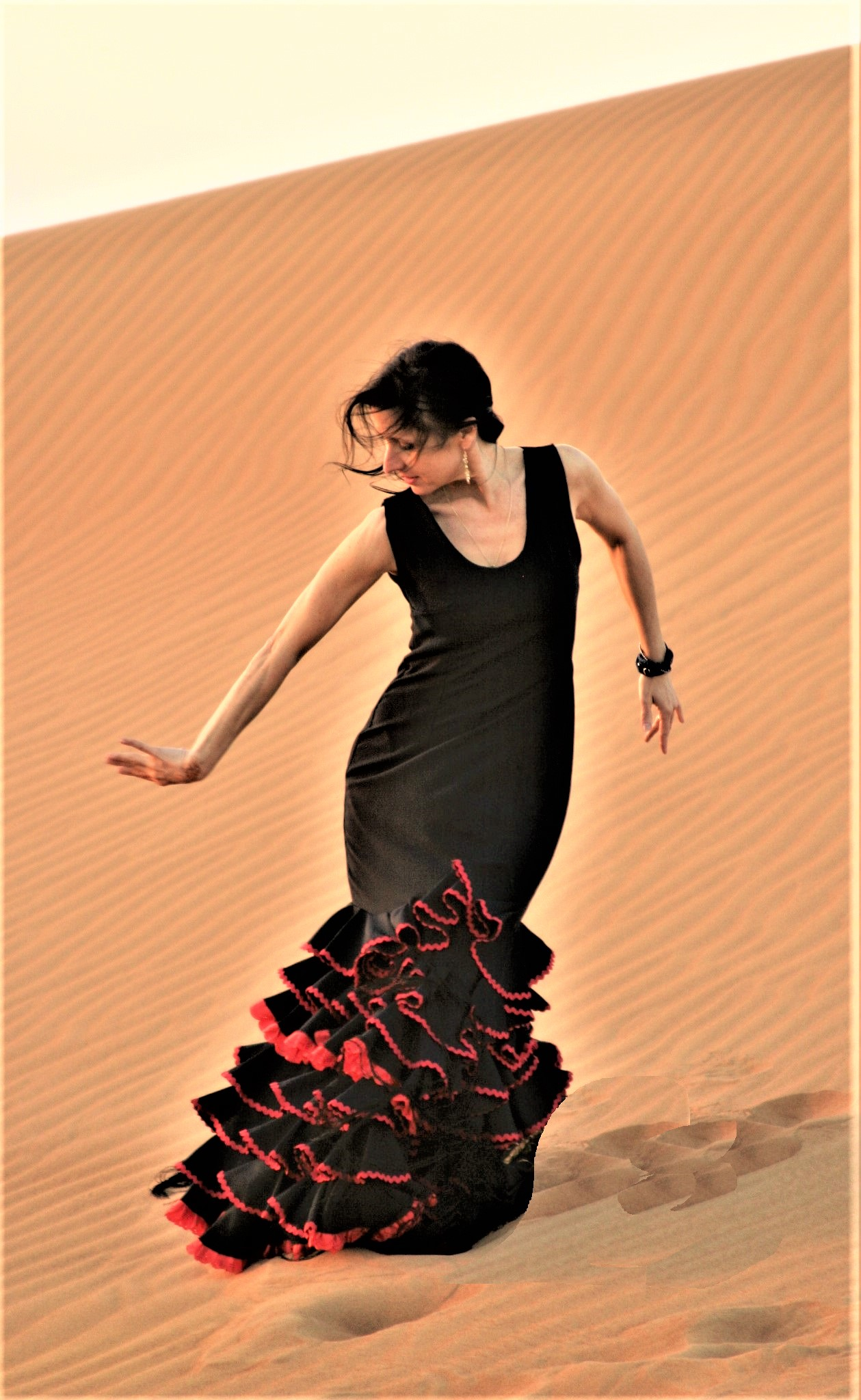 Flamenco Tänzerin Petra Müllerin Dubai